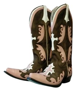 Lane Boots Pink, White, Brown Boots