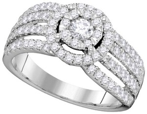 Ladies Luxury Designer 14k White Gold 1.00 Cttw Diamond Engagement Fashion Bridal Ring