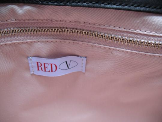 RED Valentino Leather Ruffled Shoulder Bag
