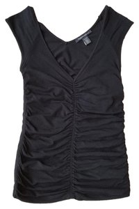Kenneth Cole Ruched Sleeveless Top Black