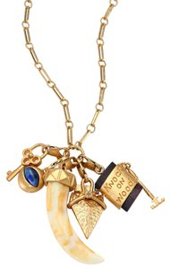 Tory Burch NEW Tory Burch Charm Pendant Necklace Lucky Superstitious Charms Brass 36