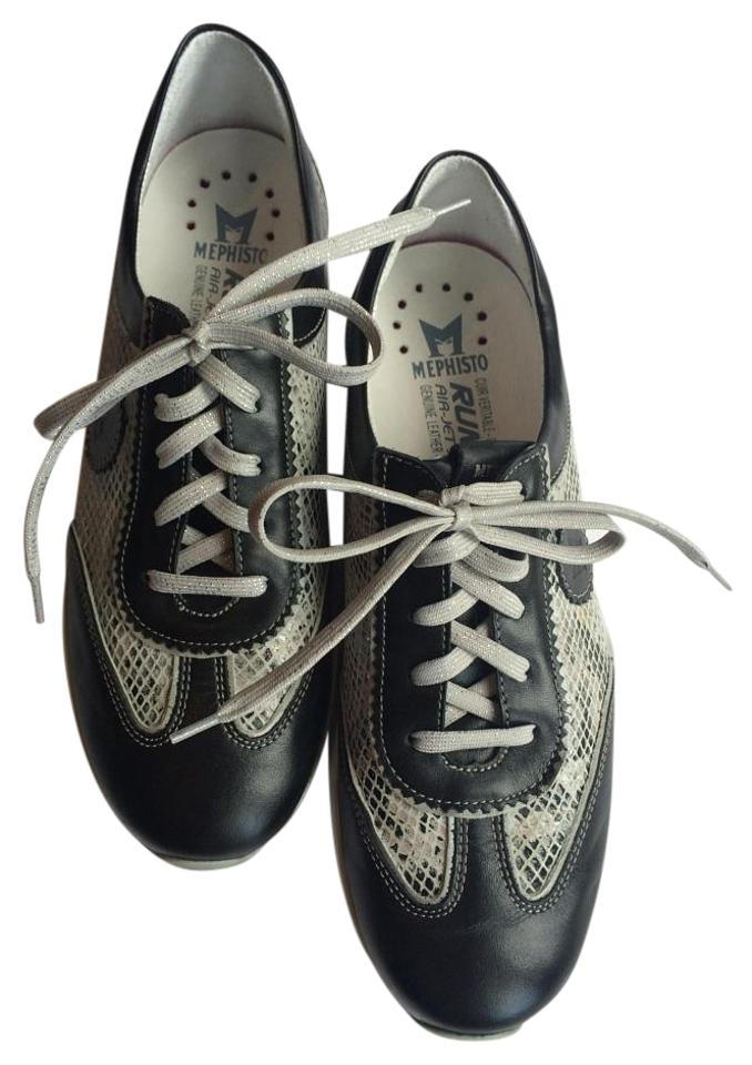 WOMEN Mephisto wide Black/Gray Yael Sneakers a wide Mephisto range of products e59400
