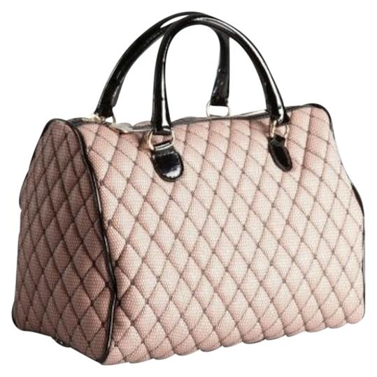 Preload https://item3.tradesy.com/images/red-valentino-quilted-mesh-overlay-shoulder-pink-black-patent-leather-fabric-satchel-1744572-0-0.jpg?width=440&height=440