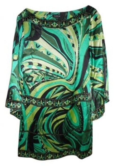 Preload https://item2.tradesy.com/images/bebe-green-black-and-yellow-swirl-print-silk-tunic-knee-length-night-out-dress-size-4-s-17446-0-0.jpg?width=400&height=650