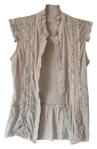 Free People Lace Top Beige