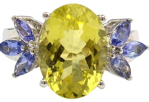 Estate 10kt Tanzanite Lemon Quartz Ring