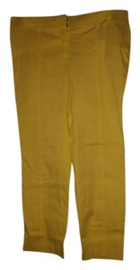 Ann Taylor Straight Pants Yellow
