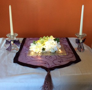 Set Of 10 Beautiful Table Center Pieces Rectangular Pebbled Glass.