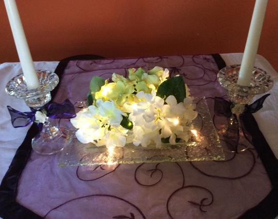 Clear Bubble Glass Set Of Table Center Pieces Rectangular Pebbled Reception Decoration