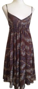 United Colors of Benetton short dress Multi (Brown) Empire Waist Sleeveless Lined Stretchy Cotton Blend on Tradesy