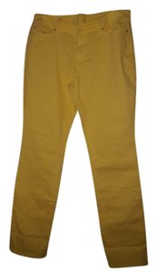 Ann Taylor Boot Cut Pants Yellow