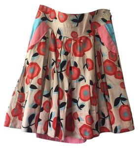 Marc Jacobs Skirt Nude woth red/pink/blue flowers
