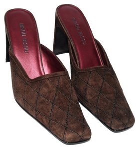 Bisou Bisou Slides Chocolate Brown Mules