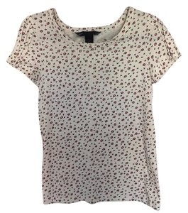 Marc by Marc Jacobs T Shirt Cream with pink and blue flowers