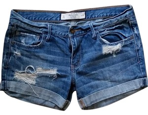 Abercrombie & Fitch Cuffed Shorts Medium Wash