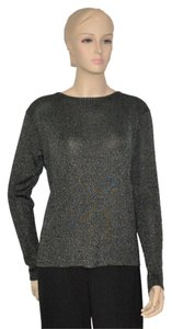 Eleen Tracy Silver Metallic Top Black