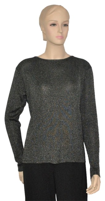 Preload https://item3.tradesy.com/images/black-silver-metallic-night-out-top-size-14-l-1744687-0-0.jpg?width=400&height=650