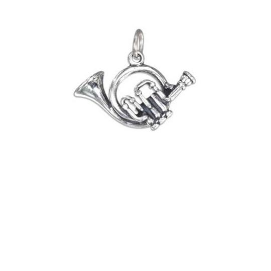 unknown STERLING SILVER THREE DIMENSIONAL FRENCH HORN CHARM