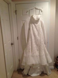 David's Bridal Soft White Lace Galina Signature Swg400 Vintage Wedding Dress Size 2 (XS)