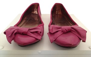 Mossimo Supply Co. Leather Ballet Bowed Bow Pink Flats