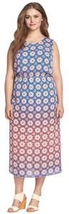 Red Blue Fig Multi Maxi Dress by Vince Camuto