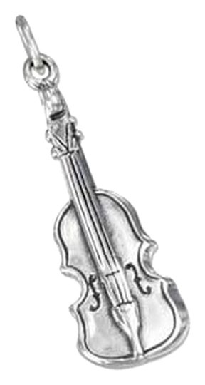 unknown STERLING SILVER THREE DIMENSIONAL CELLO CHARM