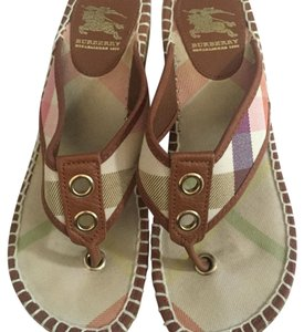 Burberry Multicolored/Brown Sandals