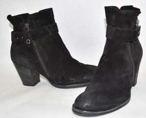 Paul Green Wedge BLACK NUBUCK Boots