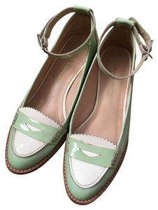 Loeffler Randall Stylish Leather Loafer Mint/ White Pumps