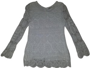 Laffaire Longsleeve Lace Lined Top White