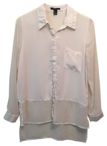Forever 21 Button Down Shirt Cream