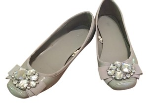 Mossimo Supply Co. Jewel Accents Gray Grey Flats