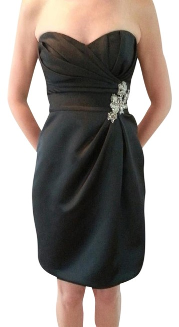 Enzoani Strapless Satin Embellished Sweetheart Dress