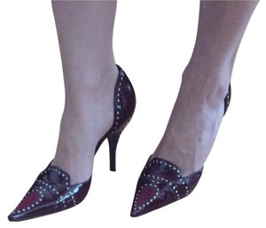 Casadei Burgandy Pumps