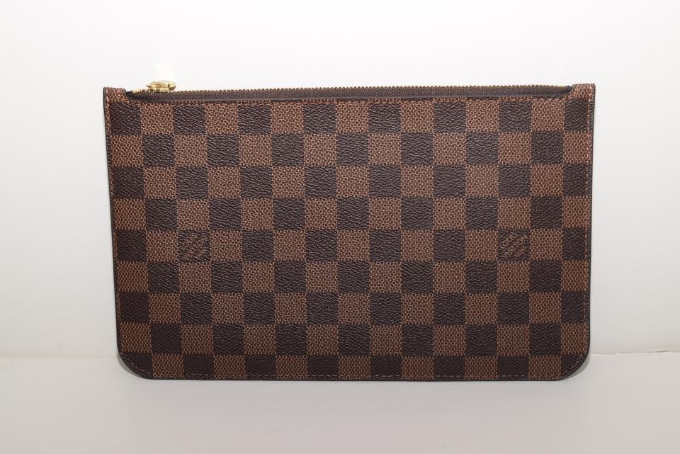 d473d2d6519f Louis Vuitton Pochette Neverfull Never Worn Mm   Gm In with Cherry Lining.  Made In France. Date Code  Damier Ebene Coated Canvas   Leather Wristlet -  ...
