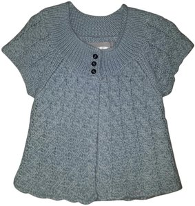 Kaisely Short Sleeve Cropped Blue Sweater
