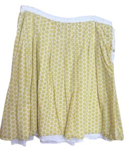 Boden Yellow Floral Vintage-style Skirt Yellow, white