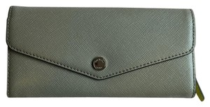 Michael Kors Greenwich Carryall Flap Wallet Dark Taupe Canary