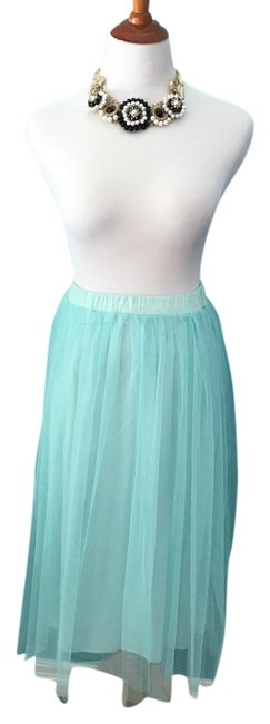 Item - Turquoise Tulle Skirt Size 6 (S, 28)