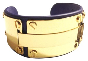 BCBGMAXAZRIA Blue gold color cuff bracelet