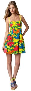 Nanette Lepore short dress Yellow Floral Spring Date Night on Tradesy