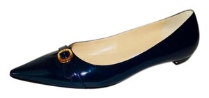 Jimmy Choo Patent Leather Navy Flats