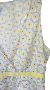 Boden Sleeveless Cotton Top Yellow White