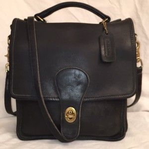 Coach Willis Leather Satchel in Dark Green
