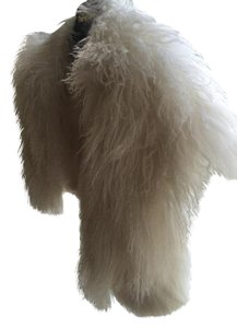 Carmen Marc Valvo Real Fur Vest/Jacket Off white Jacket