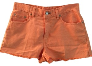 Levi's Cut Off Shorts Orange