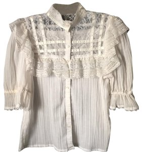 Gunne Sax Top White