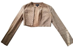 bebe Leather Crop Tan Leather Jacket