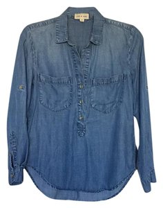 Cloth & Stone Button Down Shirt Blue chambray