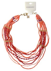 BCBGMAXAZRIA Red bohemian boho collar necklace